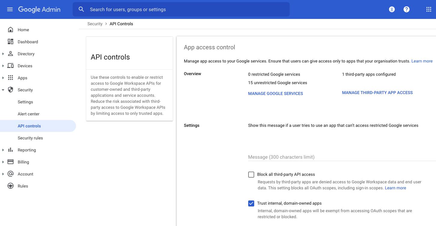 API Controls