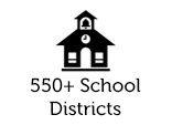 550+ School Districts