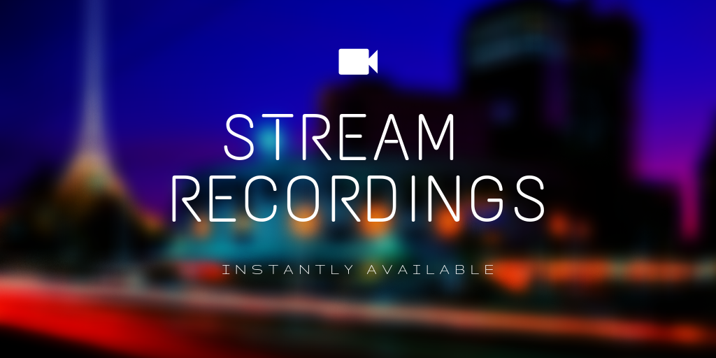 live broadcasting recordings instantly accessible